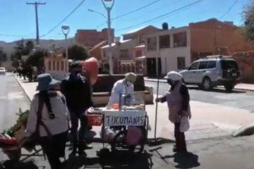 Comerciantes venden solo hasta mediodía