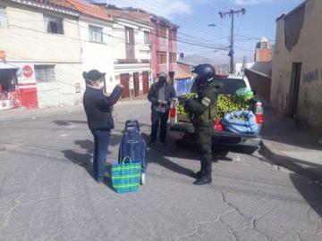 Policía realiza el control en la zona de San Juan