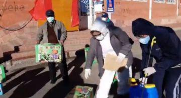 Entregaron mochilas de desinfección al Distrito 10