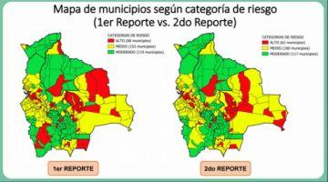 Nuevo índice de riesgo por COVID-19: 23 municipios cambian de categoría y 316 se mantienen
