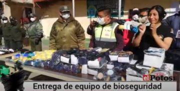 La Alcaldía entrega equipamiento de bioseguridad a la Policía