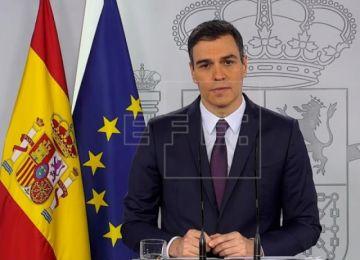 Sanchez pide extender un mes más las medidas excepcionales por el coronavirus en España