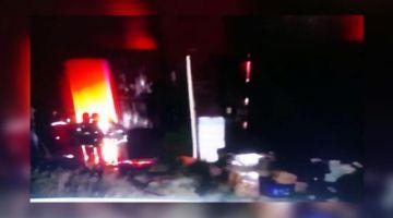 Reportan incendio de magnitud en una fábrica de Cochabamba