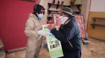 Concejala entrega insumos de bioseguridad a tres distritos