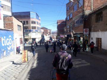 Así están las calles este martes en la ciudad de Potosí