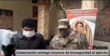 La Gobernación entregó insumos de bioseguridad al Ejército