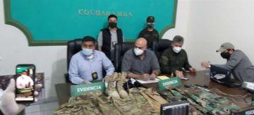 Cae falso militar que transportaba munición en Cochabamba