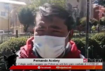Colegio Médico afirma que Potosí no está preparado para el COVID-19