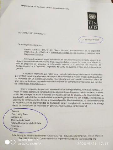 Reactivos para laboratorio COVID-19  estarían en el país recién el 6 de junio no en mayo como prometieron a Potosí