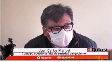 """Caso reactivos para Potosí: """"Ha habido una metida de pata"""", dice Juan Carlos Manuel"""