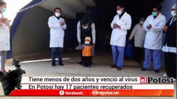 Niño queda libre del coronarivus en Potosí