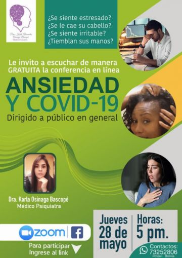 Invitan a conferencia gratuita sobre ansiedad en tiempos de coronavirus