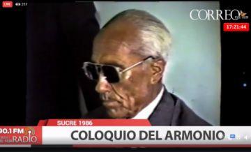 Vea el coloquio del Armonio en Sucre el año de 1986