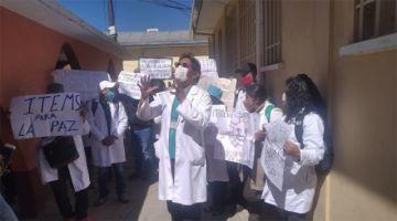 Sirmes de La Paz instala primer piquete de huelga, exigen condiciones ante posible incremento de casos