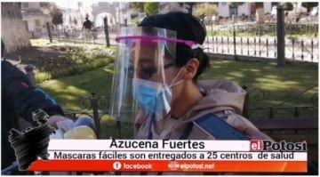 Entregan pantallas faciales a 25 centros de salud