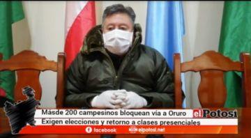 Policía informa sobre bloqueo en la ruta Potosí – Oruro