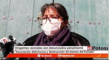 Dirigentes vecinales son denunciados por el alcalde de Potosí ante la Fiscalía