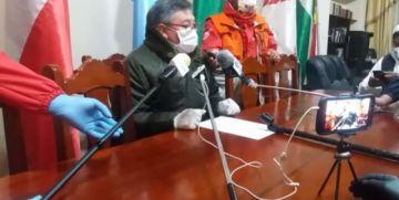 Policía informa sobre el bloqueo Potosí - Oruro