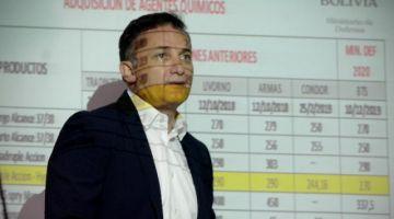 La empresa Cóndor también ofreció gases lacrimógenos en $us 12 a Ecuador y el Gobierno boliviano pagó $us 37