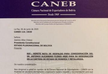 Exportadores expresan respaldo a Antonio Flores