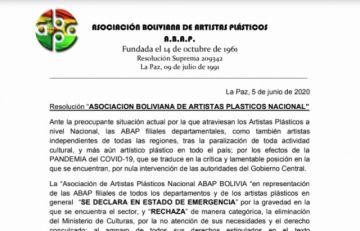 Artistas plásticos del país se declaran en emergencia en demanda de la restitución del Ministerio de Culturas