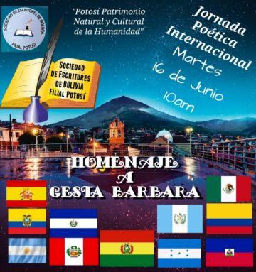 Confirman Jornada Poética Internacional de homenaje a Gesta Bárbara 1918