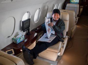 Revelan que Evo viajó en el avión presidencial a Punta Cana, Francia y Alemania, junto a su ex jefa de Gabinete
