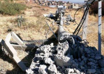 """Vuelan una torre de comunicación en K'ara K'ara y el Gobierno instruye investigar el presunto """"atentado terrorista"""""""