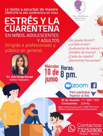 Ofrecen conferencia virtual gratuita sobre estrés y cuarentena