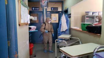El Sedes desinfectó parte del hospital Bracamonte