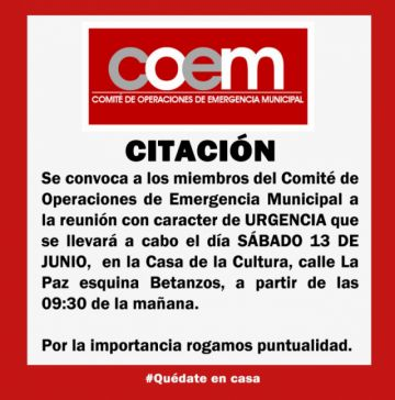 El COEM en Potosí se reunirá de urgencia este sábado
