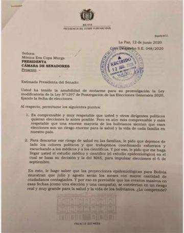 Candidatos a la Presidencia y Evo cuestionan a Áñez por no promulgar la ley de elecciones