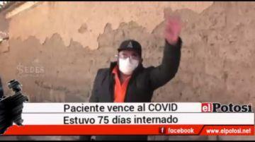 Dan de alta al primer paciente que recibió plasma en Potosí