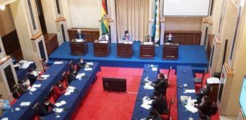 Senado sanciona ley que autoriza el préstamo de $us 50 millones de la CAF para enfrentar el coronavirus