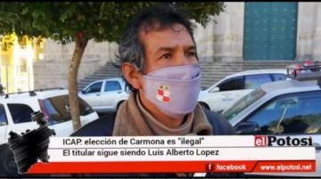 """El ICAP señala que el nombramiento de Carmona como alcalde es """"ilegal"""""""