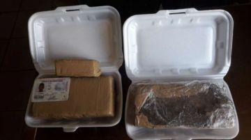 """Joven camuflado como """"delivery"""" transportaba marihuana en envases de comida"""