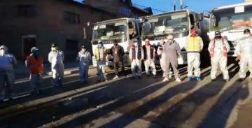 Alcaldía de Potosí retomó el trabajo de desinfección