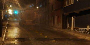 Desinfectan calles aledañas al asilo San Roque