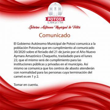 Este lunes abren mercados en la ciudad de Potosí