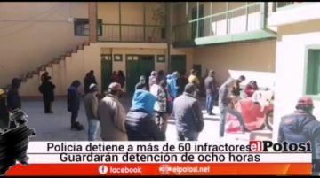 Más de 60 personas son los infractores de la cuarentena en Potosí