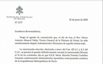 El padre Marco Abascal Valda es el nuevo Administrador Diocesano