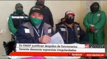 EMAP informa sobre supuestas irregularidades de parte de exfuncionarios
