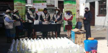 ACLO Potosí  entregó insumos de bioseguridad a EMAP