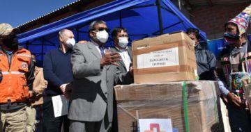 Gobierno entrega respiradores, alimentos y equipos de salud para Llallagua