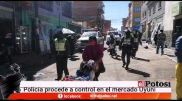 Policía en Potosí pide cumplir la cuarentena y exhorta a ir a casa