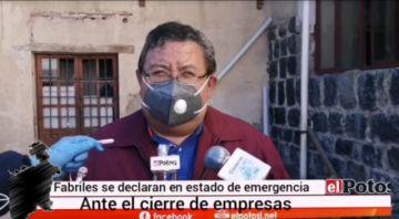 Fabriles en Potosí están en emergencia por la pandemia