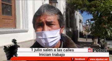 Transportistas salen a trabajar desde este 1 de julio  en la ciudad de Potosí