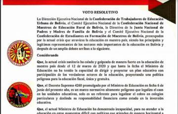 Maestros urbanos de Potosí convocan a consejo consultivo para este lunes
