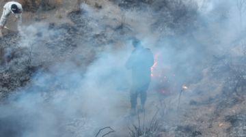 Policías lograron controlar el incendio en Cayara