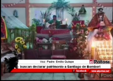 Gestionan la declaratoria de patrimonio departamental a Santiago de Bombori
